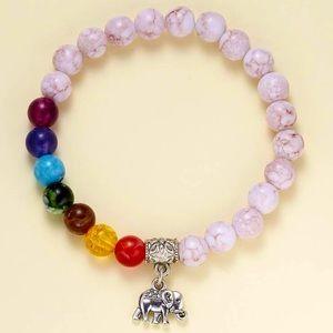🌻 3/$20 🆕 Elephant Charm Beaded Bracelet